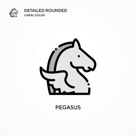 Pegasus vector icon. Modern vector illustration concepts. Easy to edit and customize. Иллюстрация