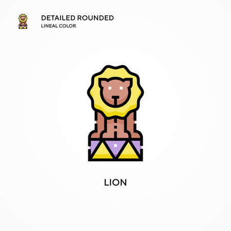 Lion vector icon. Modern vector illustration concepts. Easy to edit and customize. Иллюстрация