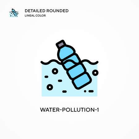 Water-pollution-1 vector icon. Modern vector illustration concepts. Easy to edit and customize.