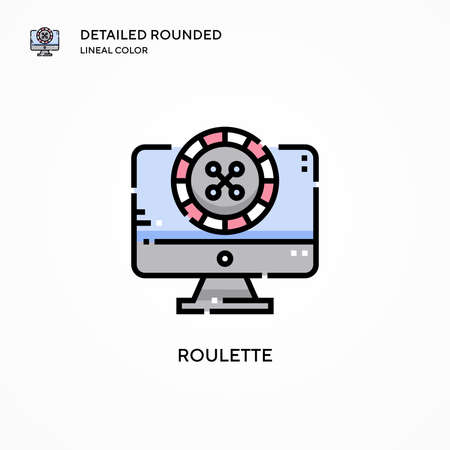 Roulette vector icon. Modern vector illustration concepts. Easy to edit and customize.