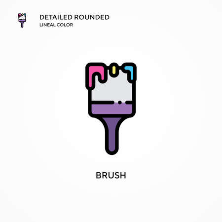 Brush vector icon. Modern vector illustration concepts. Easy to edit and customize.