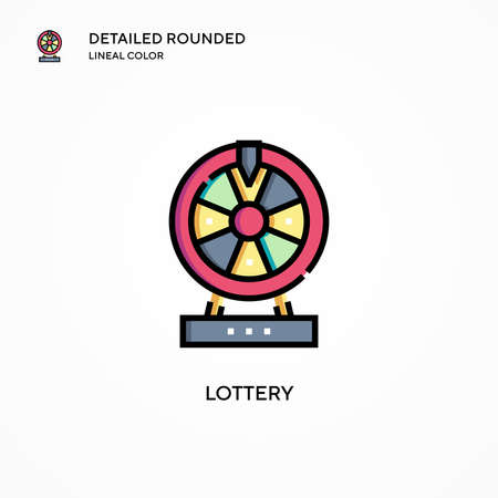 Lottery vector icon. Modern vector illustration concepts. Easy to edit and customize. Ilustrace