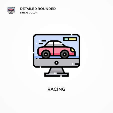 Racing vector icon. Modern vector illustration concepts. Easy to edit and customize. 矢量图像
