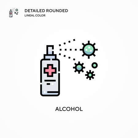 Alcohol vector icon. Modern vector illustration concepts. Easy to edit and customize. Иллюстрация