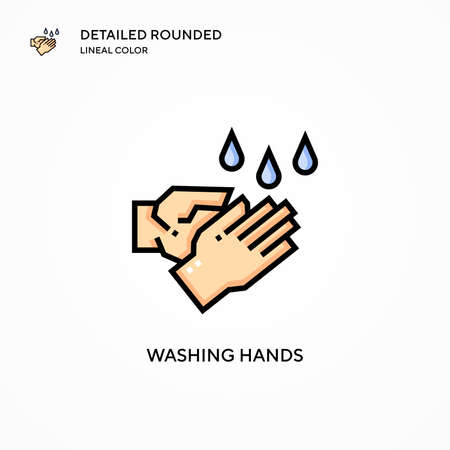 Washing hands vector icon. Modern vector illustration concepts. Easy to edit and customize. Иллюстрация