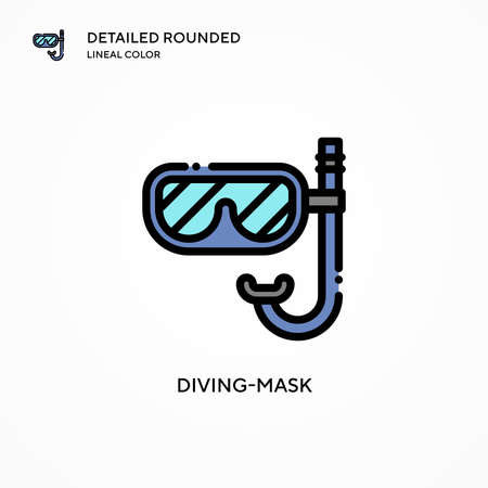 Diving-mask vector icon. Modern vector illustration concepts. Easy to edit and customize.