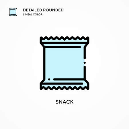 Snack vector icon. Modern vector illustration concepts. Easy to edit and customize.