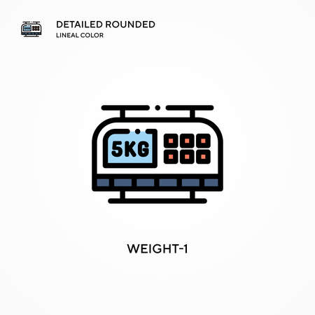 Weight-1 vector icon. Modern vector illustration concepts. Easy to edit and customize.