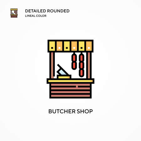 Butcher shop vector icon. Modern vector illustration concepts. Easy to edit and customize. 向量圖像