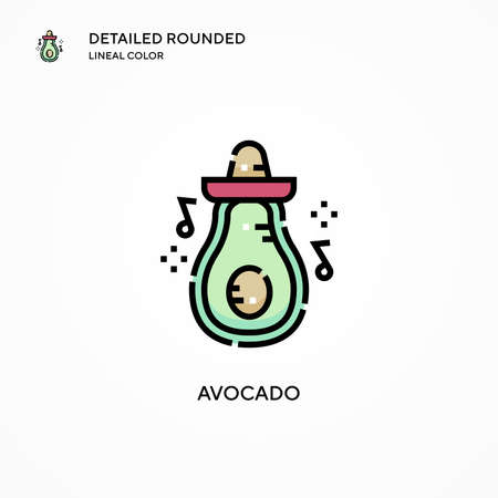 Avocado vector icon. Modern vector illustration concepts. Easy to edit and customize.