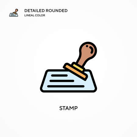 Stamp vector icon. Modern vector illustration concepts. Easy to edit and customize.