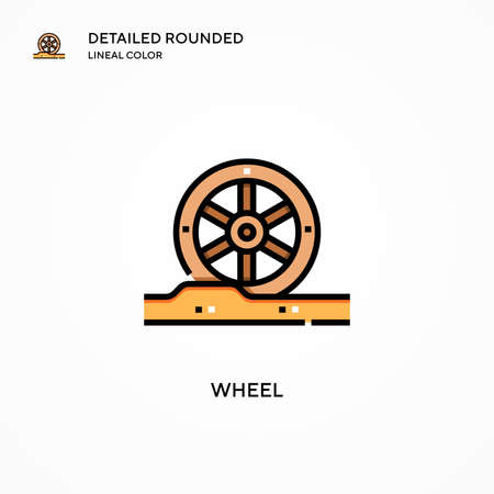 Wheel vector icon. Modern vector illustration concepts. Easy to edit and customize. Ilustrace