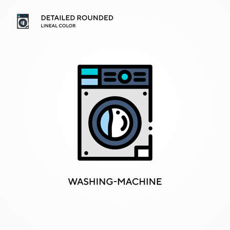 Washing-machine vector icon. Modern vector illustration concepts. Easy to edit and customize.