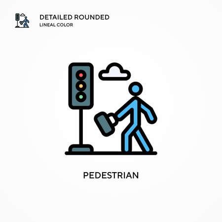 Pedestrian vector icon. Modern vector illustration concepts. Easy to edit and customize. Illusztráció