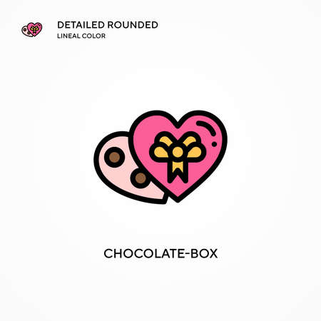 Chocolate-box vector icon. Modern vector illustration concepts. Easy to edit and customize.