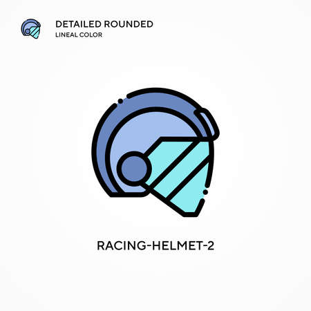 Racing-helmet-2 vector icon. Modern vector illustration concepts. Easy to edit and customize.
