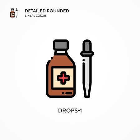 Drops-1 vector icon. Modern vector illustration concepts. Easy to edit and customize. Vettoriali