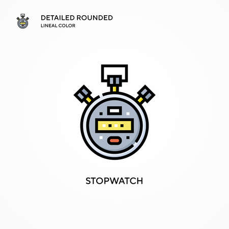 Stopwatch vector icon. Modern vector illustration concepts. Easy to edit and customize.