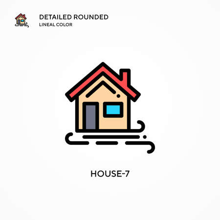 House-7 vector icon. Modern vector illustration concepts. Easy to edit and customize.