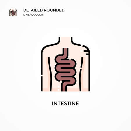 Intestine vector icon. Modern vector illustration concepts. Easy to edit and customize.