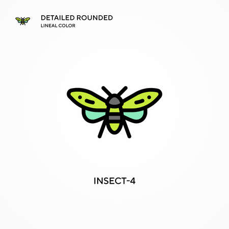 Insect-4 vector icon. Modern vector illustration concepts. Easy to edit and customize.