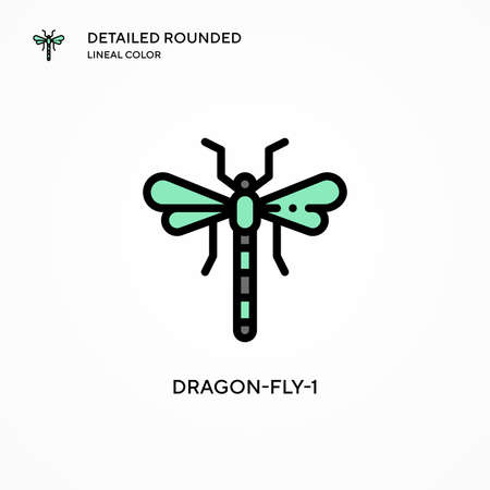 Dragon-fly-1 vector icon. Modern vector illustration concepts. Easy to edit and customize.