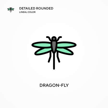 Dragon-fly vector icon. Modern vector illustration concepts. Easy to edit and customize.