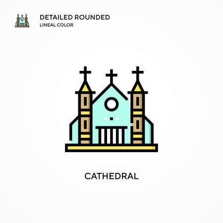 Cathedral vector icon. Modern vector illustration concepts. Easy to edit and customize.