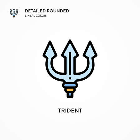 Trident vector icon. Modern vector illustration concepts. Easy to edit and customize.