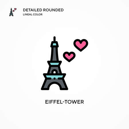 Eiffel-tower vector icon. Modern vector illustration concepts. Easy to edit and customize.