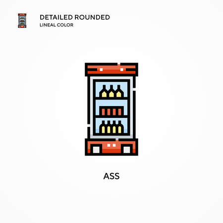 Ass vector icon. Modern vector illustration concepts. Easy to edit and customize.