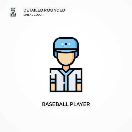 Baseball player vector icon. Modern vector illustration concepts. Easy to edit and customize.