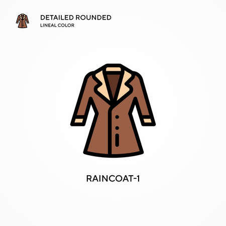 Raincoat-1 vector icon. Modern vector illustration concepts. Easy to edit and customize.