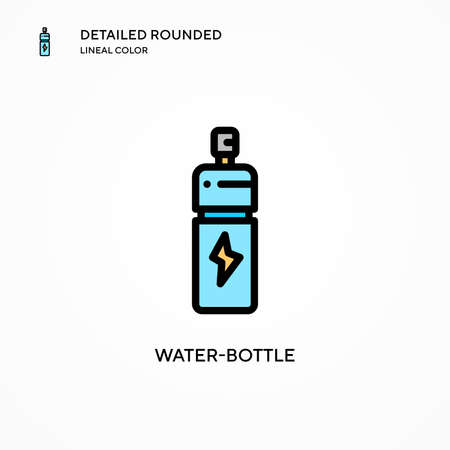 Water-bottle vector icon. Modern vector illustration concepts. Easy to edit and customize. Vettoriali