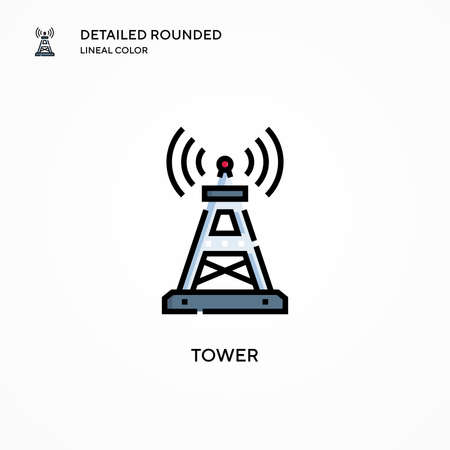 Tower vector icon. Modern vector illustration concepts. Easy to edit and customize.