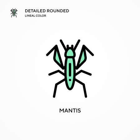 Mantis vector icon. Modern vector illustration concepts. Easy to edit and customize.