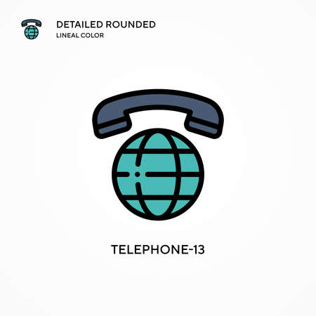 Telephone-13 vector icon. Modern vector illustration concepts. Easy to edit and customize.
