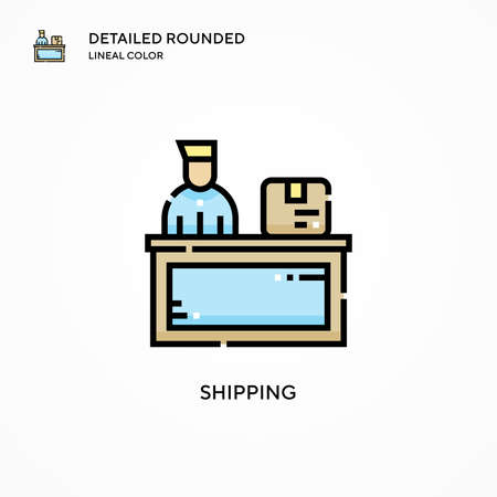 Shipping vector icon. Modern vector illustration concepts. Easy to edit and customize.