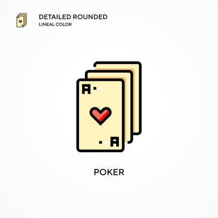 Poker vector icon. Modern vector illustration concepts. Easy to edit and customize. Ilustrace