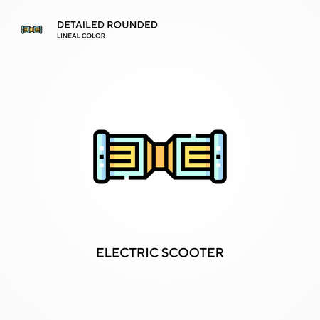 Electric scooter vector icon. Modern vector illustration concepts. Easy to edit and customize.