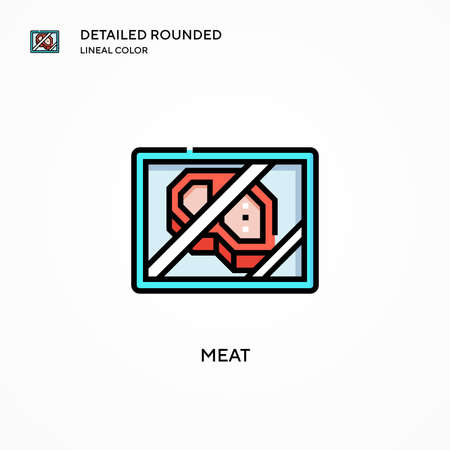 Meat vector icon. Modern vector illustration concepts. Easy to edit and customize.
