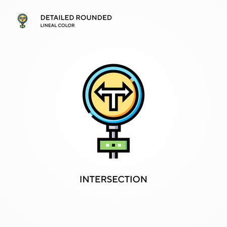 Intersection vector icon. Modern vector illustration concepts. Easy to edit and customize.