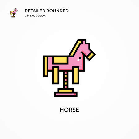 Horse vector icon. Modern vector illustration concepts. Easy to edit and customize.