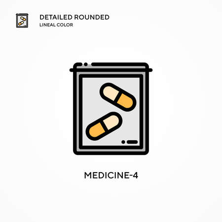 Medicine-4 vector icon. Modern vector illustration concepts. Easy to edit and customize.