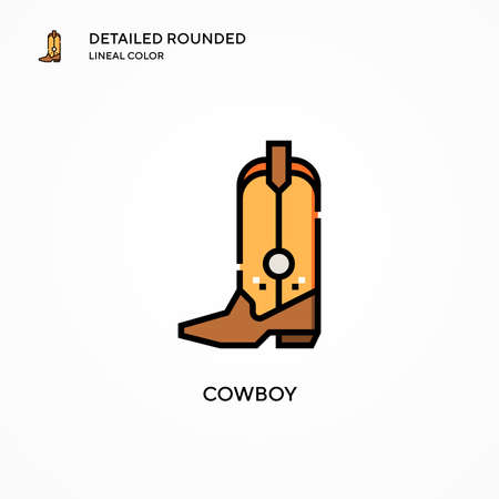 Cowboy vector icon. Modern vector illustration concepts. Easy to edit and customize. Illusztráció