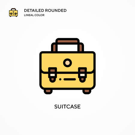 Suitcase vector icon. Modern vector illustration concepts. Easy to edit and customize.