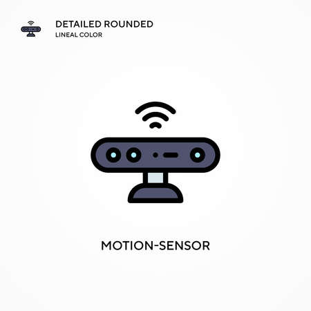 Motion-sensor vector icon. Modern vector illustration concepts. Easy to edit and customize.