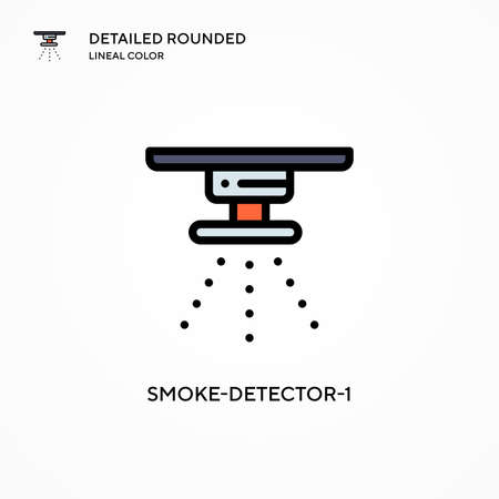 Smoke-detector-1 vector icon. Modern vector illustration concepts. Easy to edit and customize.
