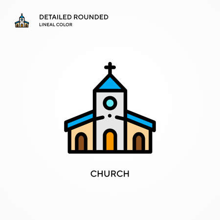 Church vector icon. Modern vector illustration concepts. Easy to edit and customize.