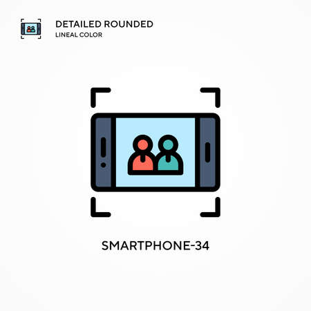 Smartphone-34 vector icon. Modern vector illustration concepts. Easy to edit and customize.